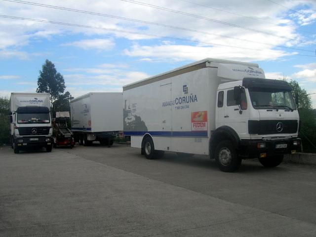 Mudanzas Coruña camiones